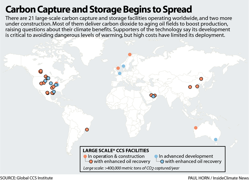 Carbon Capture and Storage Begins to Spread