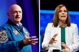 Astronaut Mark Kelly (left) is running against Sen. Martha McSally (R-Ariz.) in a special election to represent Arizona in the Senate.