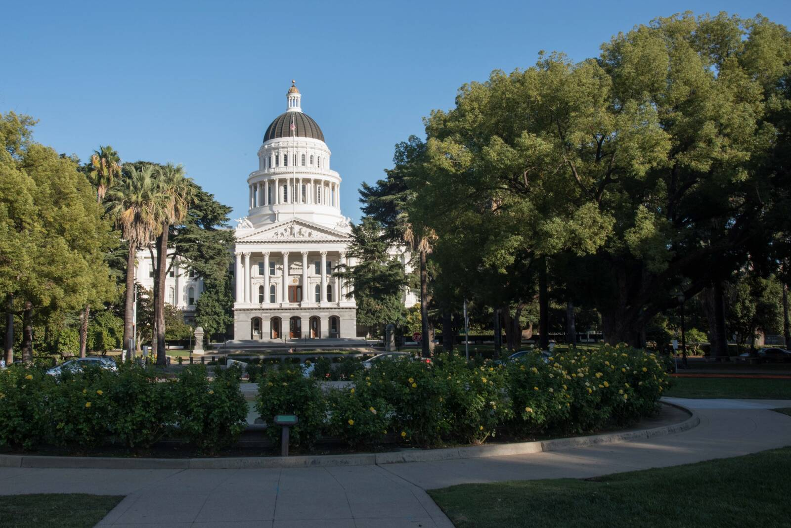 The California sate capitol building is seen in Sacramento. Credit: Education Images/Universal Images Group via Getty Images