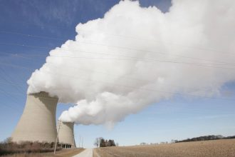 Steam billows from the cooling towers at Exelon's nuclear power generating station in Byron, Illinois. Credit: Scott Olson/Getty Images