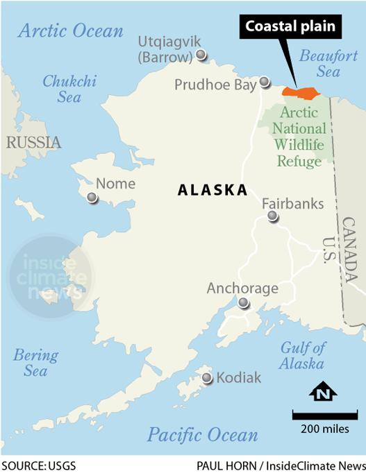 Map: Coastal Plain, part of the Arctic National Wildlife Refuge