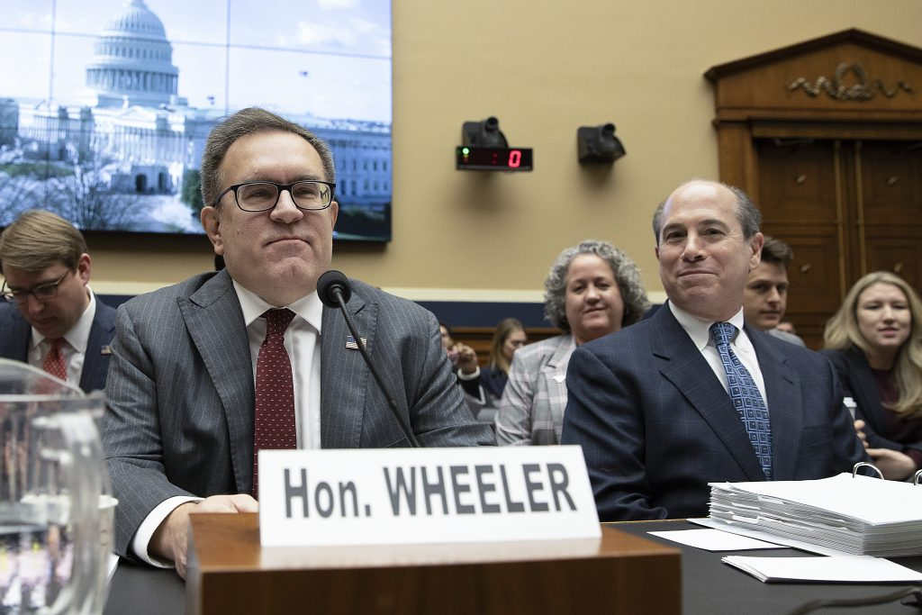 EPA Administrator Andrew Wheeler arrives to testify on Capitol Hill on Feb. 27, 2020 in Washington, D.C. Credit: Tasos Katopodis/Getty Images