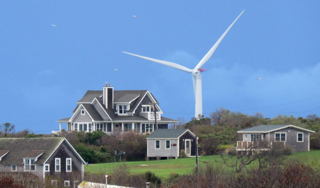 View of wind turbines, located three miles off the bluffs of Block Island, Rhode Island on Sept. 9, 2017. Credit: Mark Harrington/Newsday RM via Getty Images