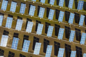 Solar panels work in an integrated power station in Yancheng city, in Jiangsu province, on Oct. 14, 2020. Credit: Hector Retamal/AFP via Getty Images