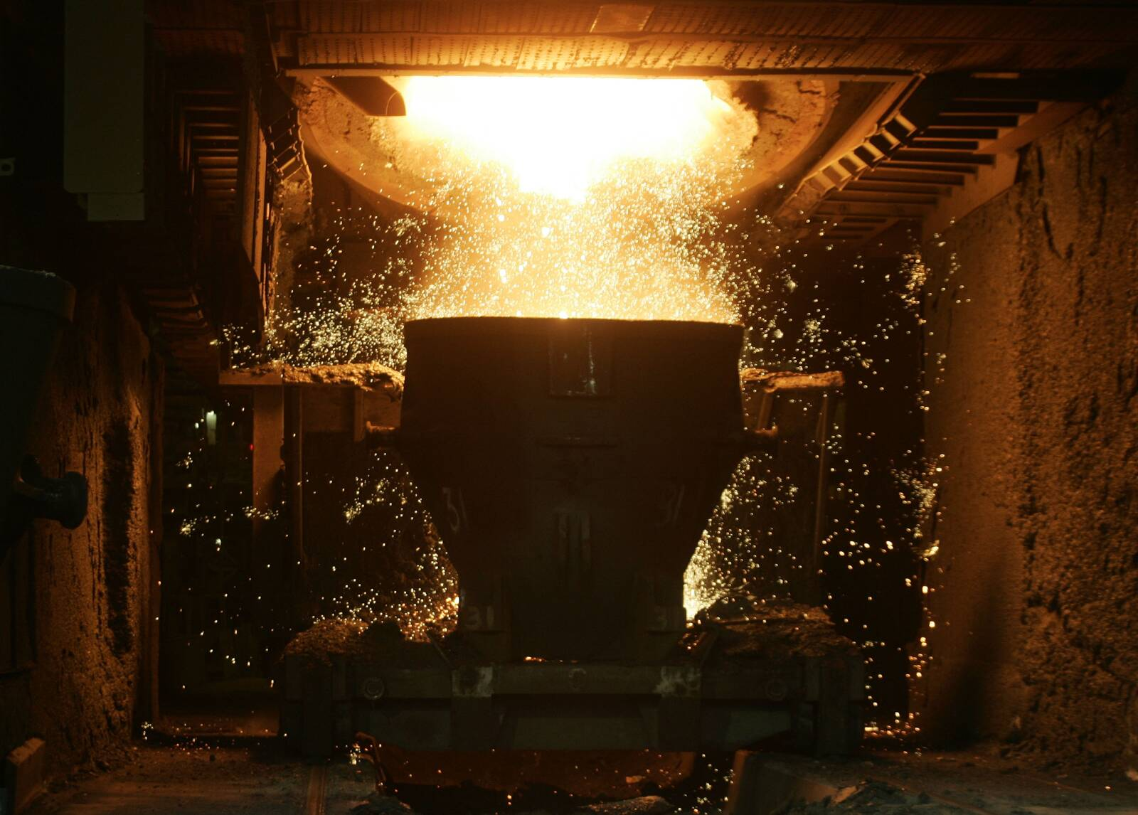 Steel is produced at ArcelorMittal Gent on Sept. 5, 2007 in Ghent, Belgium. Credit: Mark Renders/Getty Images