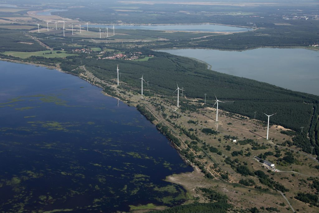 Coal-fired power plants are just one part of the mix in Lusatia, which also gets a growing share of its electricity from wind and solar power. Credit: Sean Gallup/Getty Images