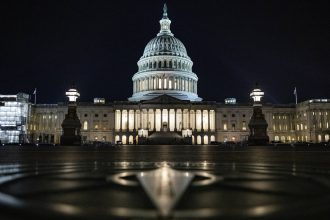 With several tight Senate races, Democrats may have control of the Senate within reach, needing a net gain of just three seats—four if President Trump is reelected. Credit: Samuel Corum/Getty Images