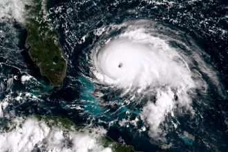 Hurricane Dorian tracks towards the Florida coast on Sept. 1, 2019 in the Atlantic Ocean. Credit: NOAA via Getty Images