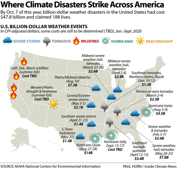Where Climate Disasters Strike Across America