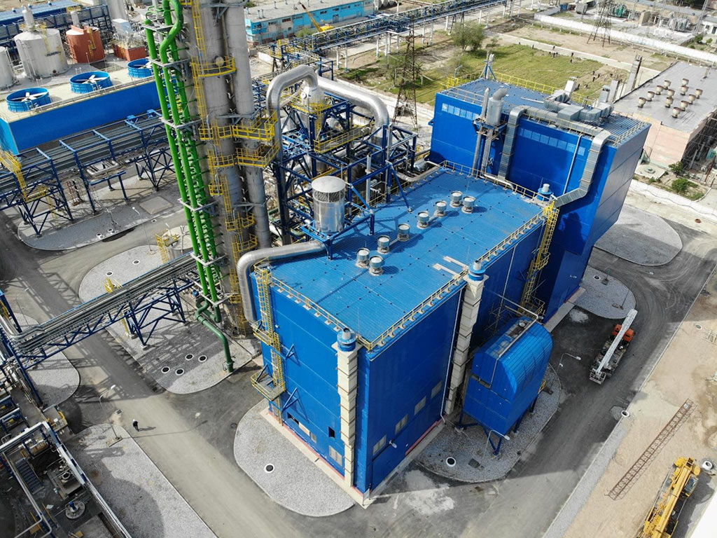 The Navoiyazot chemical plant in Navoiy, Uzbekistan uses a chemical reactor to eliminate 97 percent of its emissions of nitrous oxide, a potent greenhouse gas.