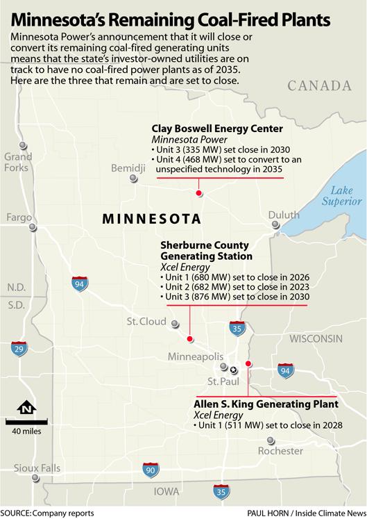 Minnesota's Remaining Coal Fired Power Plants