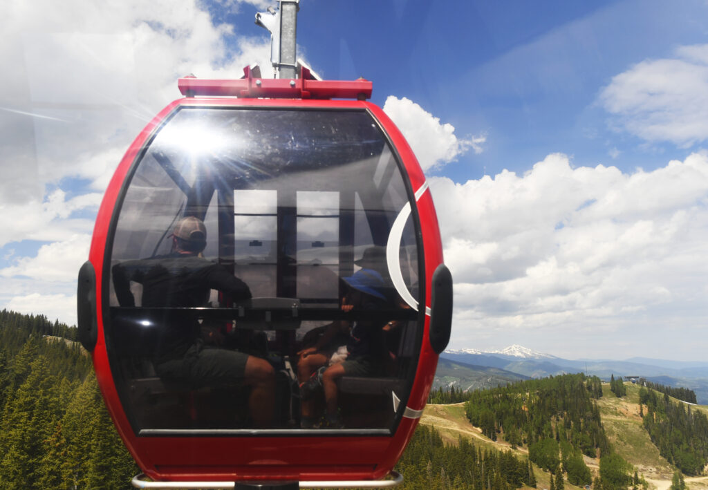 The Silver Queen Gondola runs in Aspen, Colorado. Aspen has been a leader in switching to 100 percent renewable energy. Credit: RJ Sangosti/The Denver Post