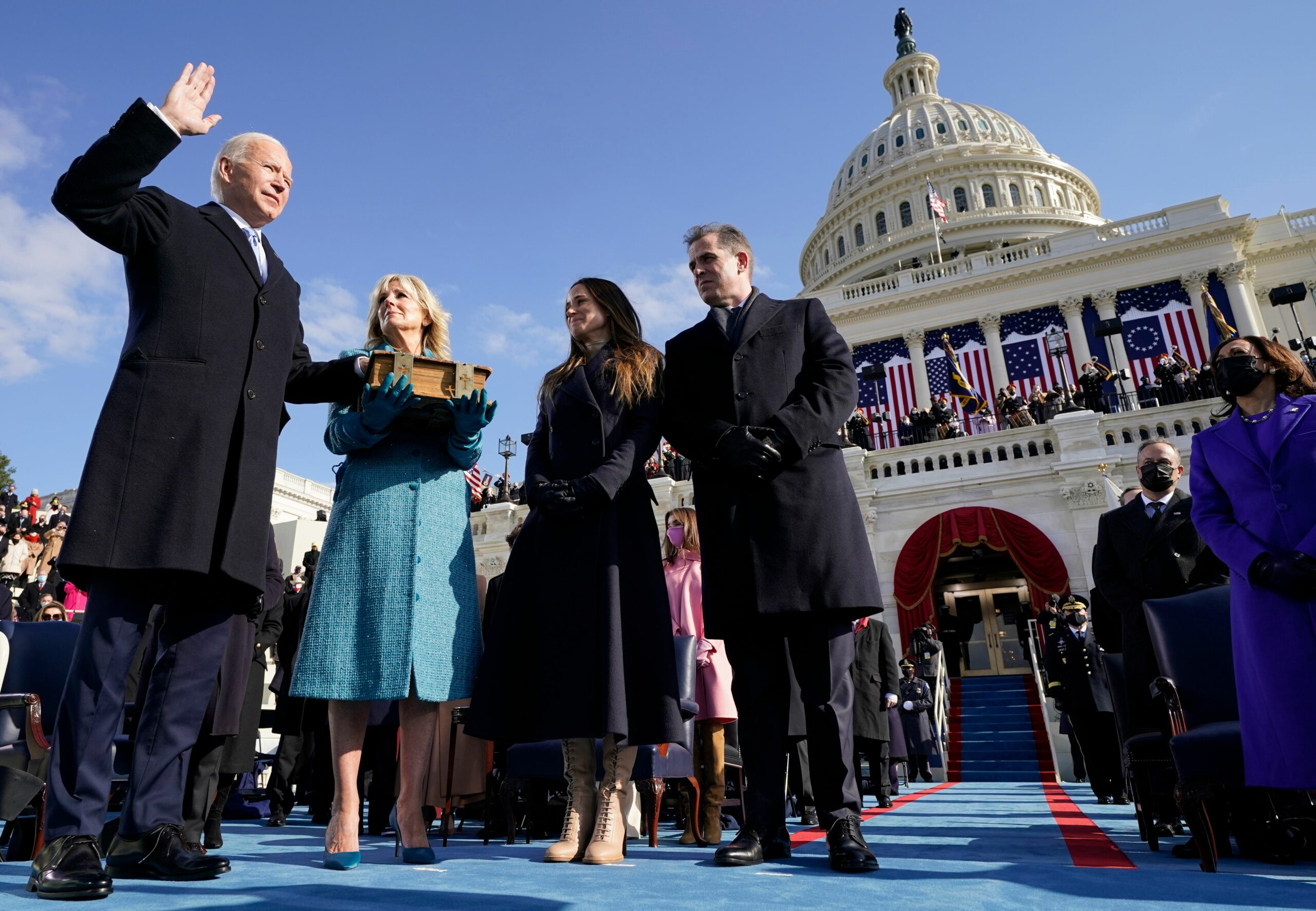 President Joe Biden takes the oath of office during the presidential inauguration on Jan. 20, 2021, at the Capitol in Washington, D.C. Credit: Andrew Harnik/Pool/AFP via Getty Images