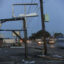 Property damage after Hurricane Zeta on Oct. 29, 2020 in Chalmette, Louisiana. Credit: Sandy Huffaker/Getty Images