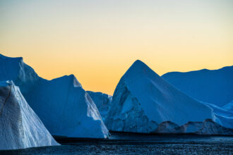 Icebergs near Ilulissat, Greenland. Credit: Ulrik Pedersen/NurPhoto via Getty Images