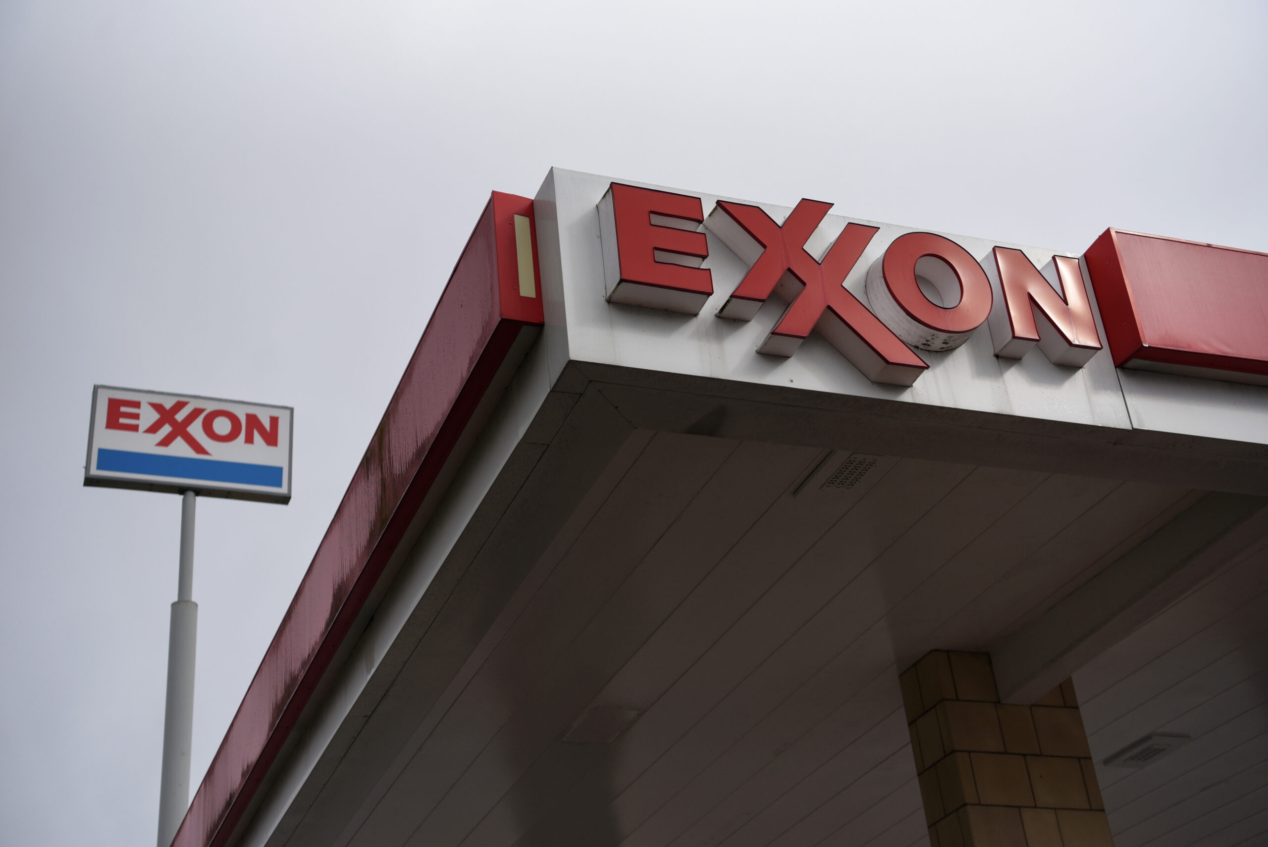 Signage at an ExxonMobil gas station in Houston, Texas, on Wednesday, Oct. 28, 2020. Credit: Callaghan O'Hare/Bloomberg via Getty Images