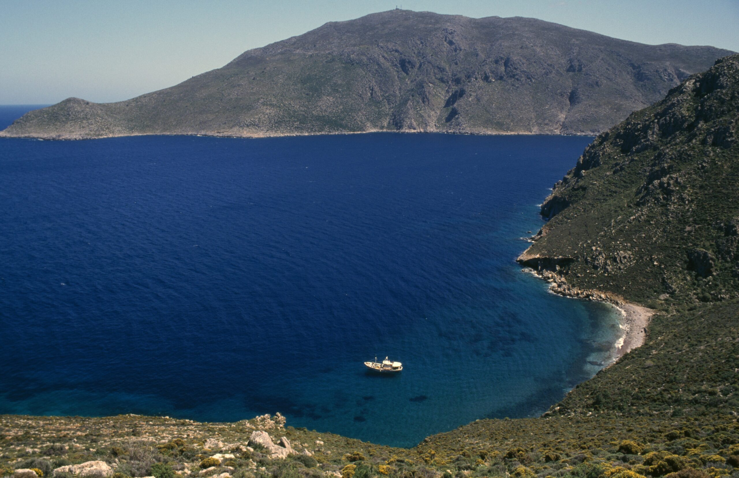 A coastal view of Tilos island, Greece. Credit: DeAgostini/Getty Images