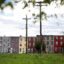 Row homes are seen in Baltimore, Maryland. Credit: Patrick Smith/Getty Images