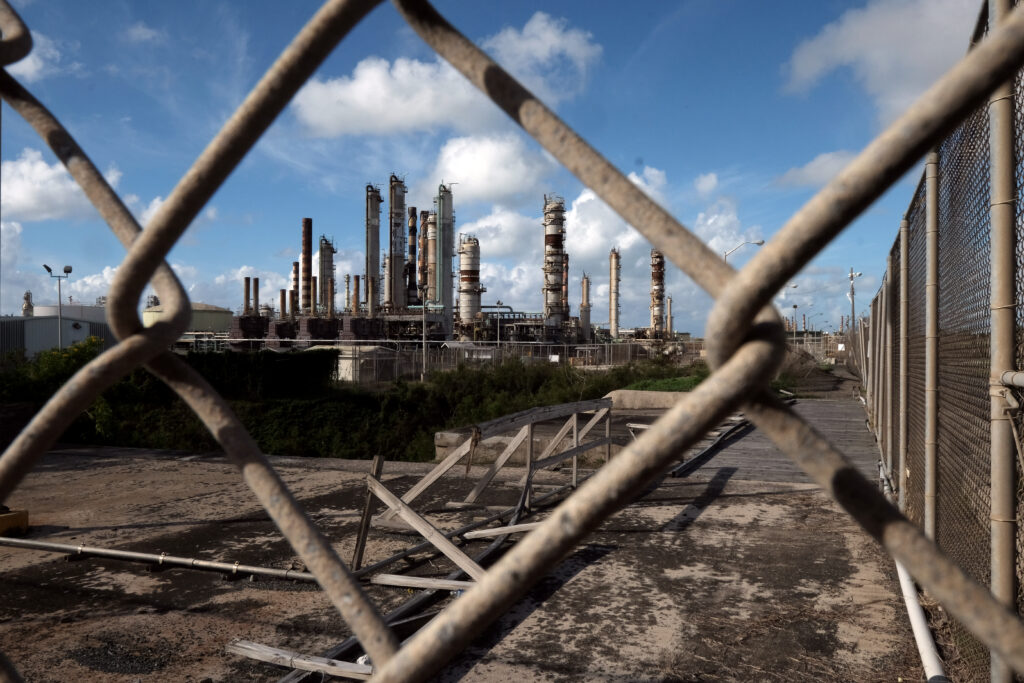 Limetree Bay Terminals in the U.S. Virgin Islands on Jan. 27, 2018. The facility was once the world's largest oil refinery. Credit: Bonnie Jo Mount/The Washington Post via Getty Images