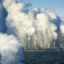 Aerial view of Neurath fired-coal power station showing large amount of fumes and pollution, Cologne, Germany. Credit: plus49/Construction Photography/Avalon/Getty Images