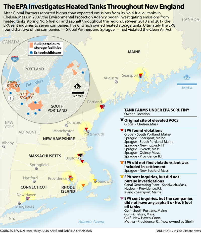 The EPA Investigate Heated Tanks Throughout New England