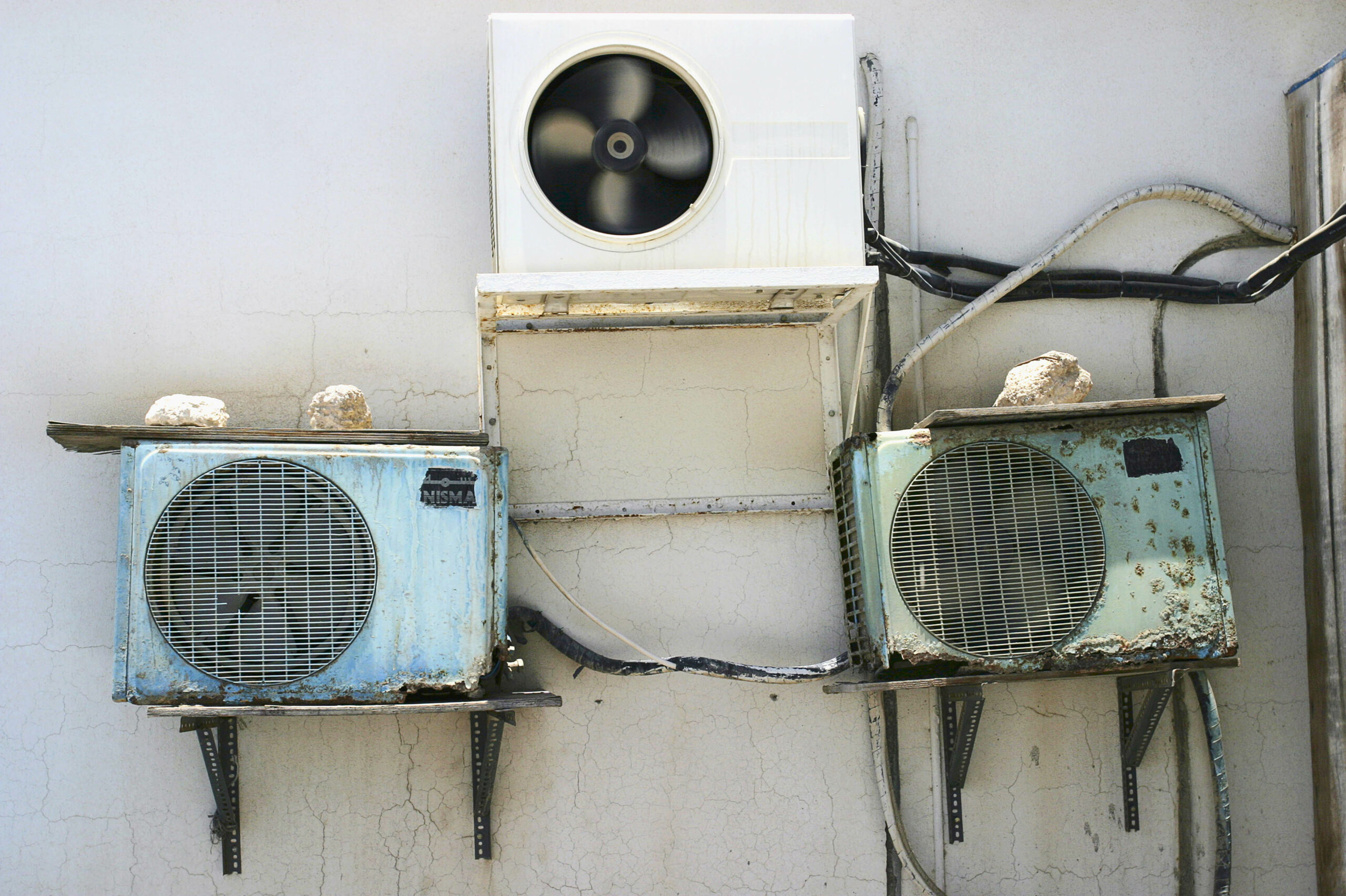 Air conditioning units on the side of a building. Credit: Jason Larkin/Construction Photography/Avalon/Getty Images