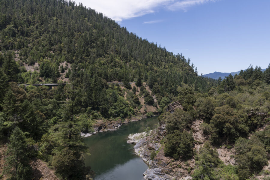 The Trinity River in the southern Klamath Mountains in California. Credit: Carol M. Highsmith/Buyenlarge/Getty Images