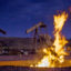 Flames from a flaring pit near a well in the Bakken Oil Field. Credit: Orjan F. Ellingvag/Corbis via Getty Images