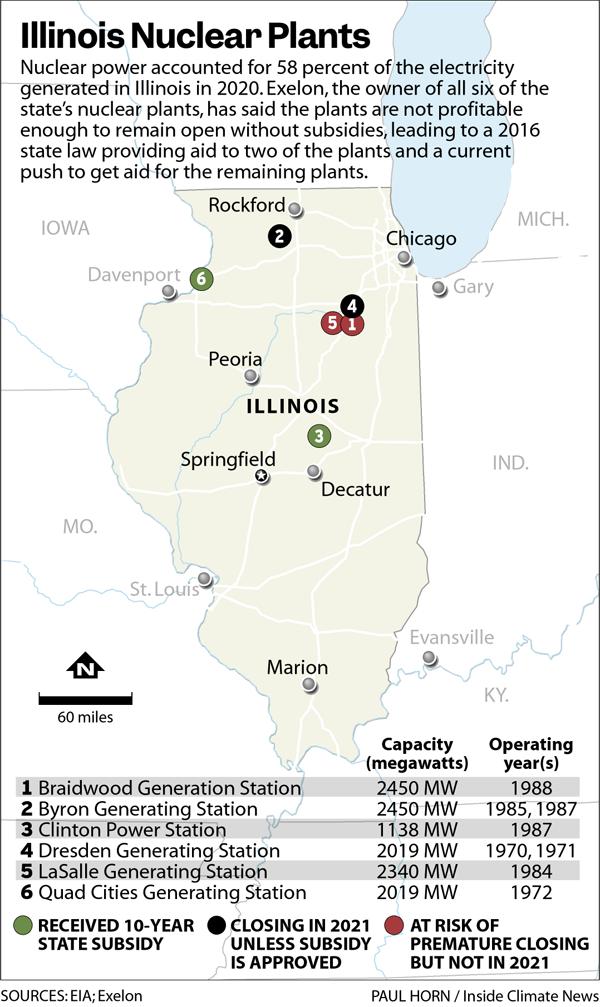 Illinois Nuclear Plants