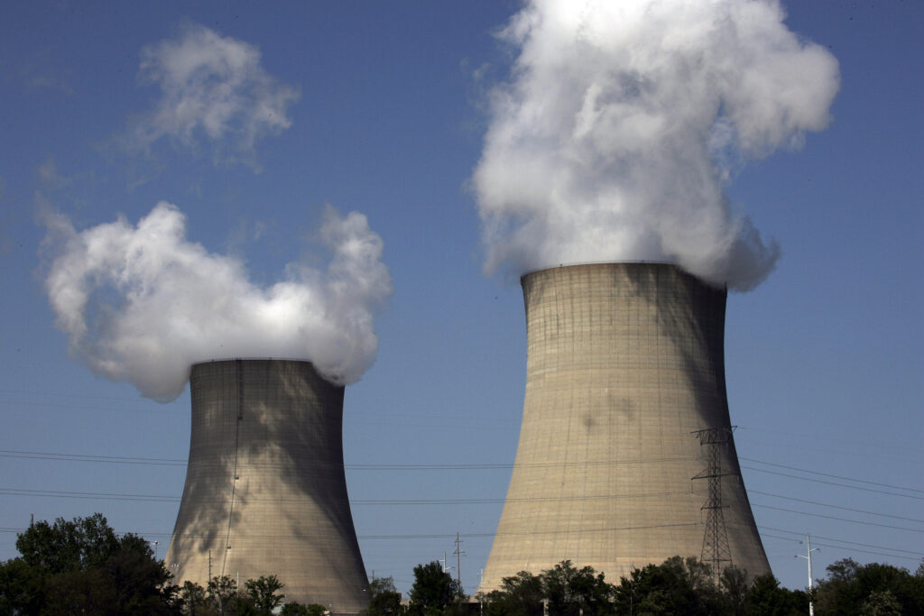 The Exelon Byron Nuclear Generating Stations running at full capacity in 2007 in Byron, Illinois, Credit: Jeff Haynes/AFP via Getty Images