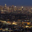 The Los Angeles skyline is seen during twilight on Aug. 21, 2013 in California. Credit: Joe Klamar/AFP via Getty Images