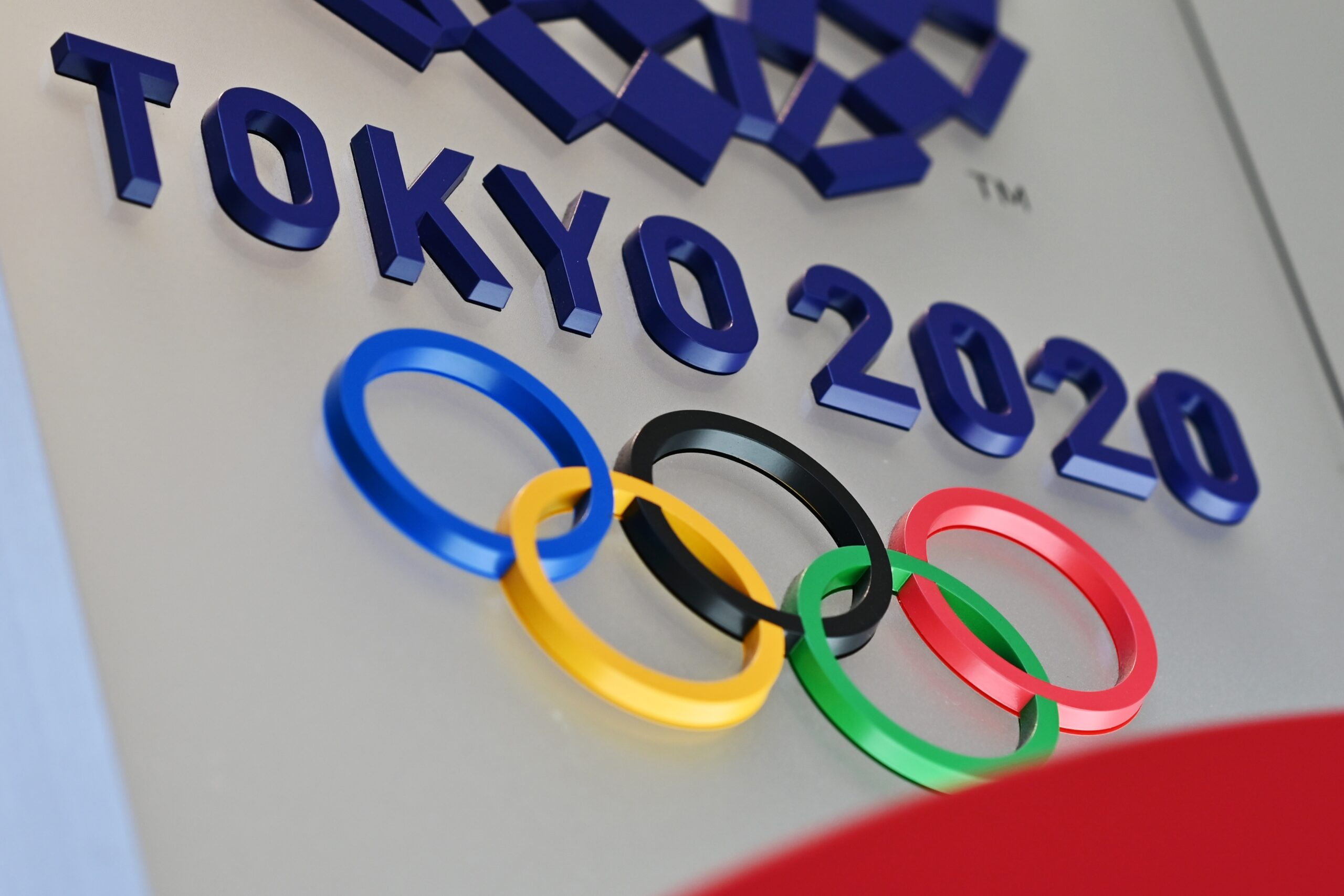 The logo for the Tokyo 2020 Olympic Games is seen in Tokyo on March 15, 2020. Credit: Charly Triballeau/AFP via Getty Images