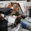 Butch Segura and his son Stew Segura salvage what they can from their store named Mattress Doctor after it was destroyed as Hurricane Laura passed through the area on Aug. 28, 2020 in Lake Charles, Louisiana. The hurricane hit with powerful winds causing extensive damage in the area. Credit: Joe Raedle/Getty Images