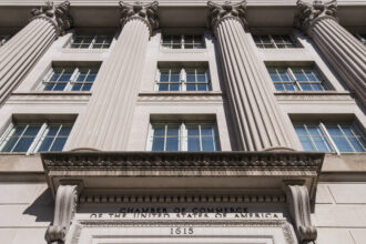 The Chamber of Commerce of the United States of America building facade in Washington, D.C. on Friday, Oct. 20, 2017. Credit: Bill Clark/CQ Roll Call