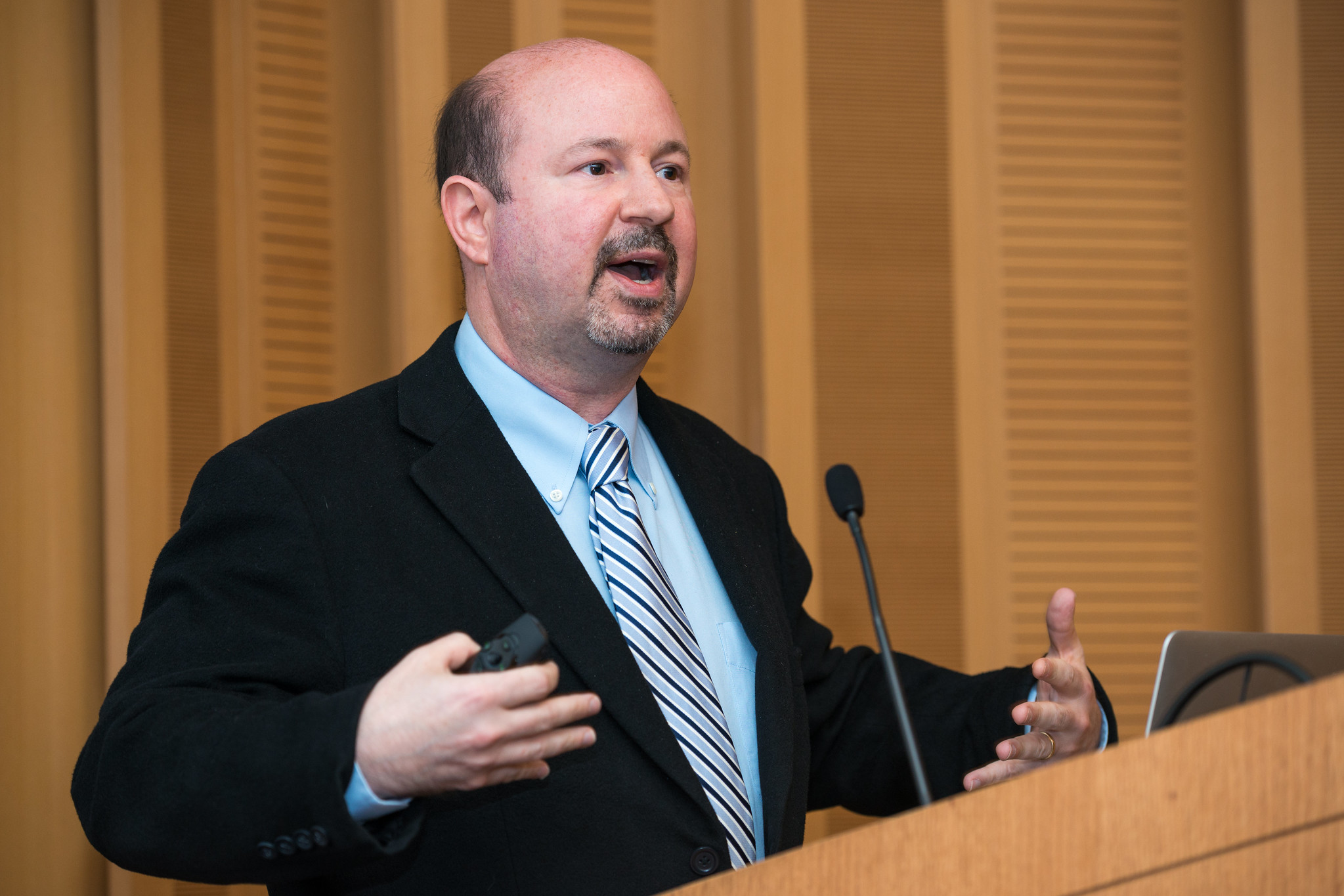 Climatologist Michael Mann speaks at the Academic Freedom Conference at Johns Hopkins University. Credit: Mike Ferguson/AAUP