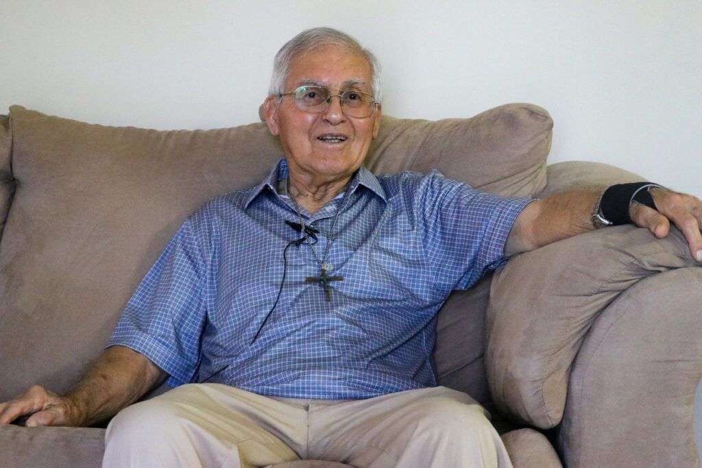 The Rev. Roch Naquin said he believes in the idea behind the New Isle and looks forward to moving into his new home, but understands why some in his community have decided to stay. Credit: Katie Livingstone/Inside Climate News
