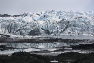The Matanuska glacier is seen on Sept. 7, 2019 near Palmer, Alaska. Credit: Joe Raedle/Getty Images