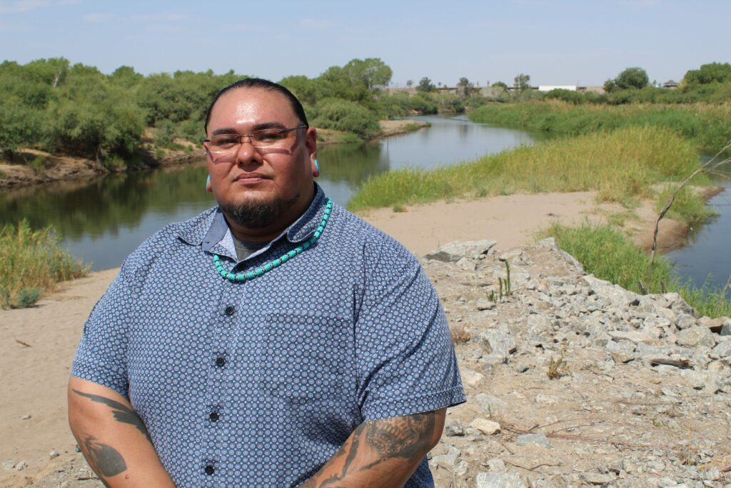 Fort Yuma-Quechan tribal council member Charles Escalanti says tribes in the Colorado River watershed are claiming their seat at the negotiation table for future policies. Credit: Luke Runyon/KUNC