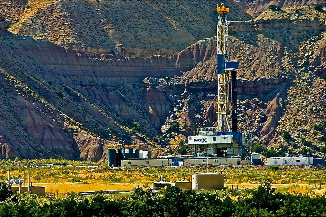 A new study shows the potential for widespread surface water pollution from hydraulic fracturing like at this drilling site in Western Colorado. Credit: Bob Berwyn