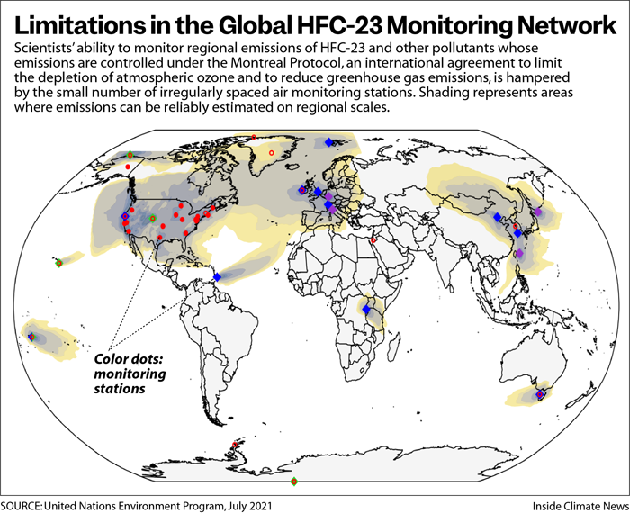 Limitations in the Global HFC-23 Monitoring Network