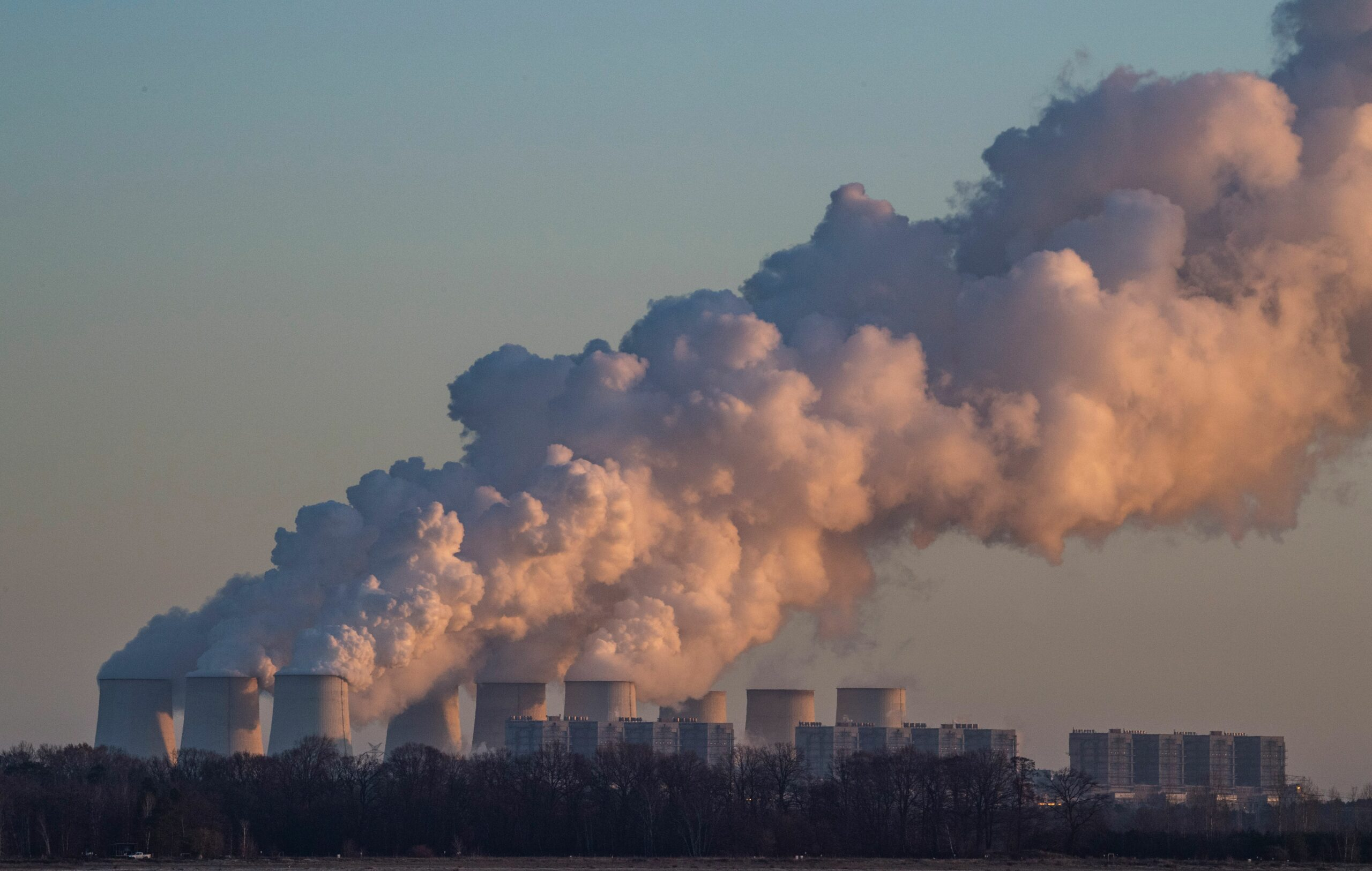 A picture taken on Nov. 30, 2019 shows a view of the Jaenschwalde Power Station near Peitz, eastern Germany. Credit: John MacDougall/AFP via Getty Images