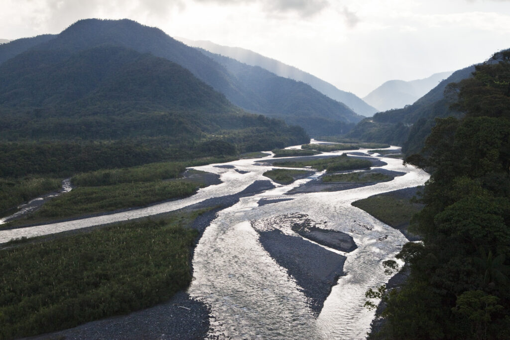 Pastaza River leaving the Andes and entering the lowlands of the Oriente in Ecuador. Credit: Rolf Schulten/ullstein bild via Getty Images