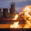 Flames from a methane flaring pit near a well in the Bakken Oil Field. Credit: Orjan F. Ellingvag/Corbis via Getty Images