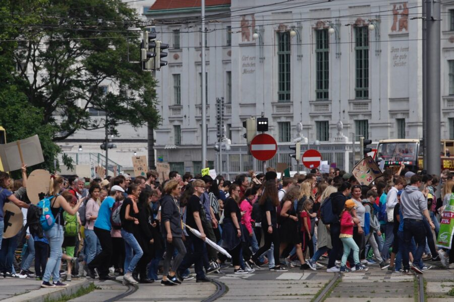 Tens of thousands of Austrians of all ages participated in the May 2019 global Fridays For Future Climate Strike. Credit: Bob Berwyn