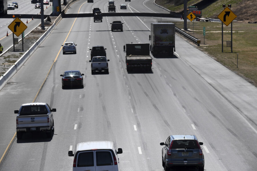 Southbound Interstate 95 is seen in Baltimore, Maryland on March 22, 2017. Credit: Jonathan Newton/The Washington Post via Getty Images